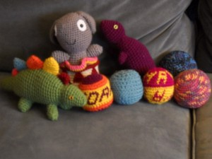 """Pictures of Amigurumi stuffed animals"""