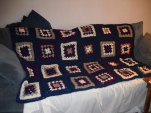 "Crocheted ""Permutation Blanket"""