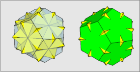 Five Octahedra and Dodecahedron (Clear and Opaque)